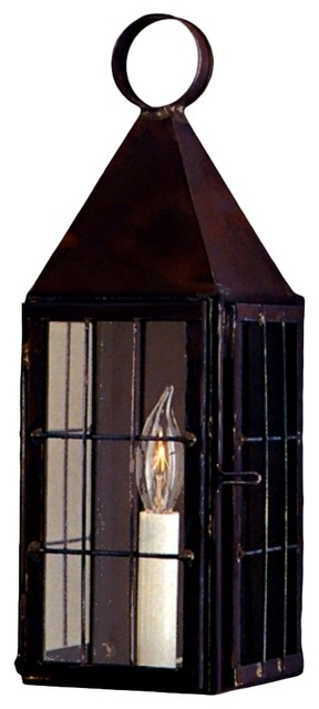 Colonial Willaimsburg Copper Lantern - Wall Mlunt Sconce Style by Lanternland traditional-outdoor-wall-lights-and-sconces