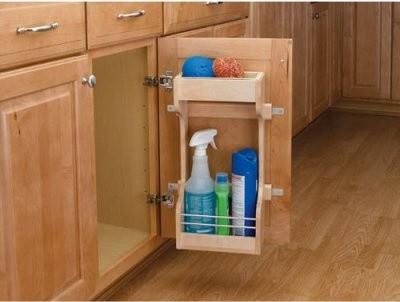 Rev-a-Shelf Door Storage Cleaning Organizer modern-kitchen-drawer-organizers