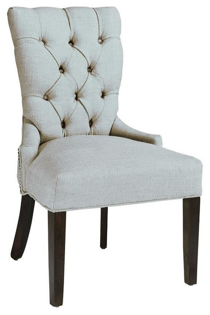 custom tufted back dining chair traditional dining chairs by