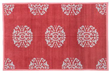 Metallic Chenille Mandala Rug eclectic-rugs