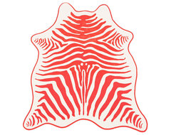 Coral Zebra Hide Towel eclectic towels