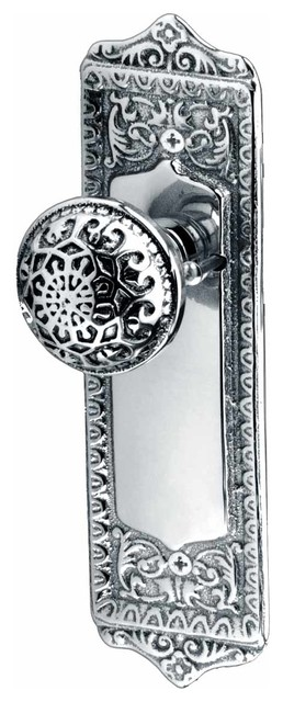 Door Knobs Chrome Door Knob 2 3/8'' Privacy Set | 95518 traditional-cabinet-and-drawer-knobs