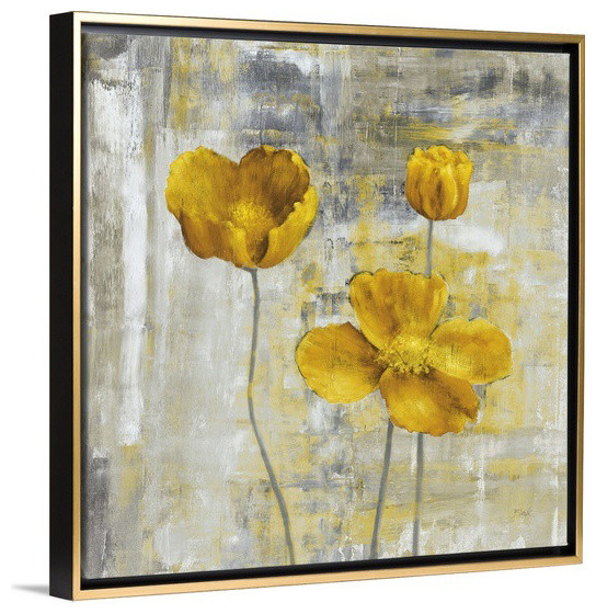 Yellow Flowers II Wall Art From Great BIG Canvas By Carol