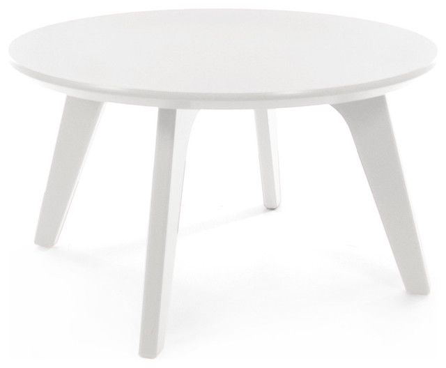 Satellite End Round 26 Table Cloud White Contemporary