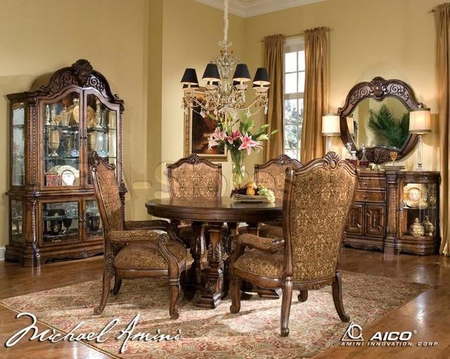 quot michael amini quot vintage fruitwood 5 pc dining room set