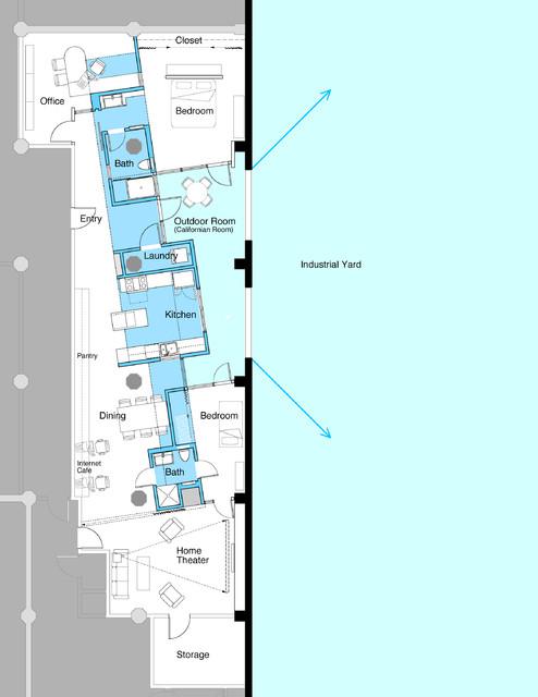 Blue Pickle Loft industrial-floor-plan