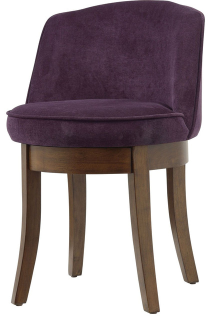 Vanity Stool Eggplant Transitional Vanity Stools And Benches By Modern Furniture Warehouse