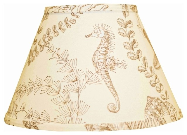 coastal empire tan nautical on cream lamp shade 9x16x12. Black Bedroom Furniture Sets. Home Design Ideas