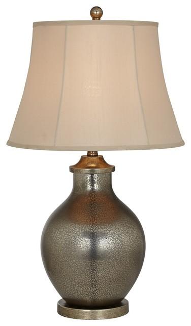 Kathy Ireland Manhattan Modern Tall Smoke Glass Table Lamp