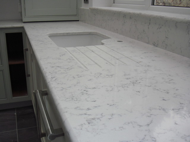 Lyra Quartz worktops, Silestone - Contemporary - manchester UK - by Cheshire Granite Worktops