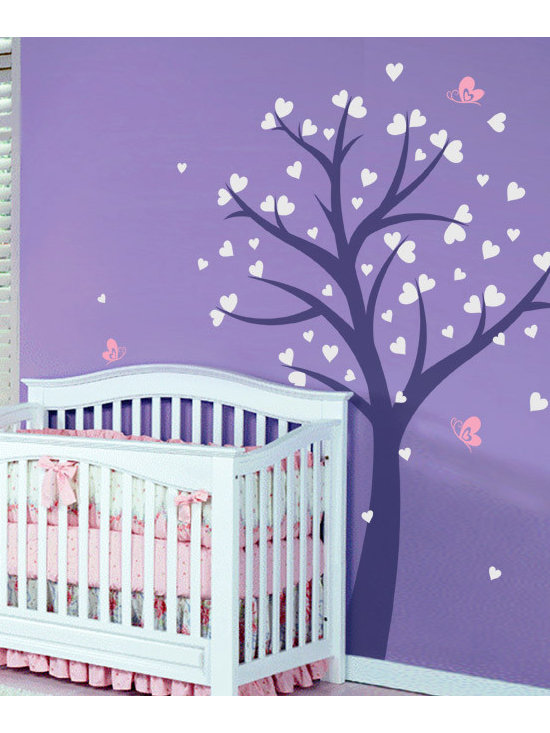 Love Tree with Hearts and Butterflies - Original design © 2012 Wall Definition.