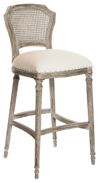 Camilla French Country Washed Taupe Linen Bar Stools Set  : transitional bar stools and counter stools from www.houzz.com size 346 x 640 jpeg 49kB