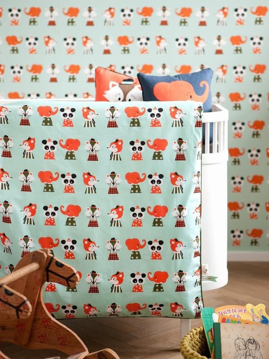 Ferm Living Marionette Crib Bedding - Sweet dreams with Ferm Living's Marionette bedding. The 2 piece Marionette Set is made of 100% organic cotton for extra comfort and comes with a matching bag- perfect for storing toys and dolls.