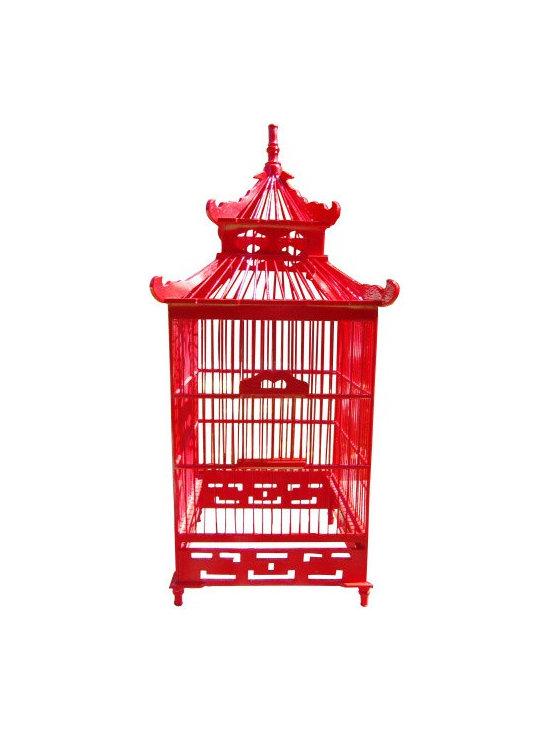 Chinoiserie Decorative Birdcage -