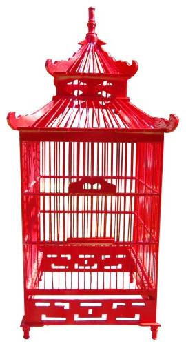 Chinoiserie Decorative Birdcage asian-home-decor