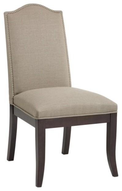 Linen Fabric With Nailhead Trim Transitional Dining Chairs By ARTeFAC