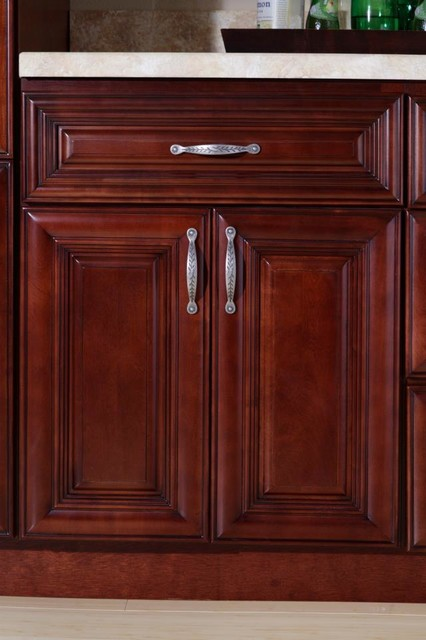 Co St James Mahogany Kitchen Cabinets Detroit By Cabinets To Go