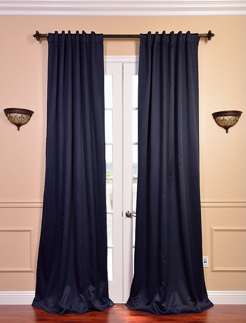 Magnetic Curtain Tie Backs Blue Striped Blackout Curta