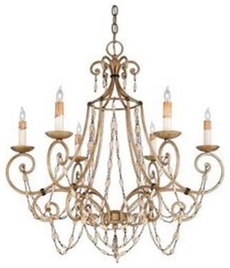Quoizel Savigne RSV5006AF Chandelier - 28.5W in. - Antique Silver Leaf and Ancie modern-chandeliers
