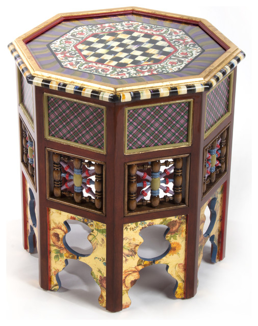 Mo Accent Table | MacKenzie-Childs eclectic-side-tables-and-end-tables