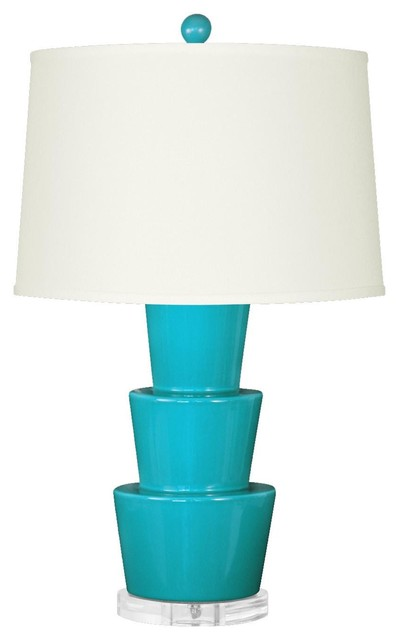 Bungalow 5 Costa Lamp in Dark Turquoise traditional-table-lamps