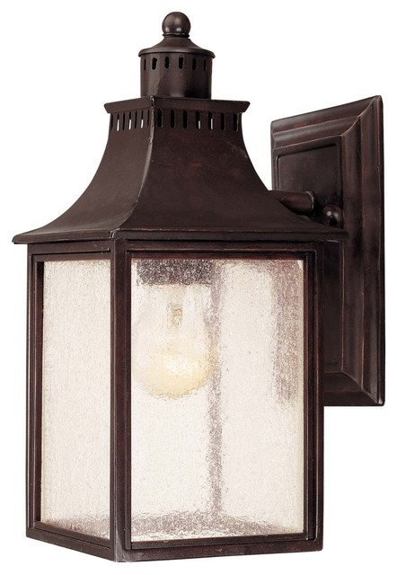 Savoy House Monte Grande Outdoor Wall Mount Light Fixture in English Bronze traditional-outdoor-wall-lights-and-sconces