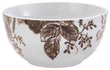 Paula Deen Tatnall Street Coffee Bean Dinnerware Cereal Bowls - Set of 4 modern-bowls