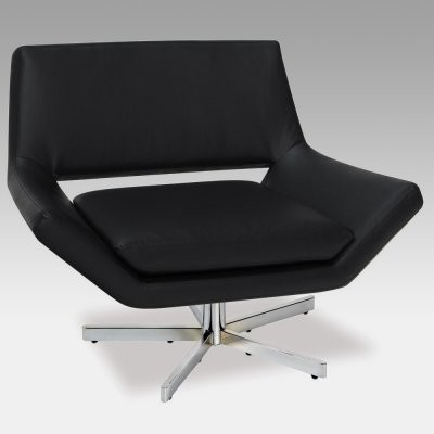Avenue six yield wide swivel accent chair modern for Modern swivel accent chair
