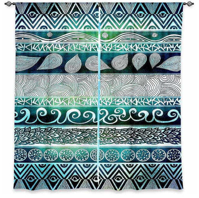 Window Curtains Unlined - Pom Graphic Design Dreamy Tribal contemporary-curtains