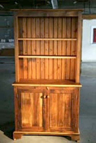 3ft Open Top Barn Wood Hutch farmhouse-storage-cabinets