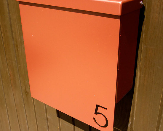 Custom House Number Mailbox No. 1310 Drop Front in Powder Coated Aluminum -