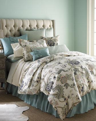 Traditions Leyta Bed Linens King Floral Duvet Cover, 105 x 90 traditional-duvet-covers-and-duvet-sets