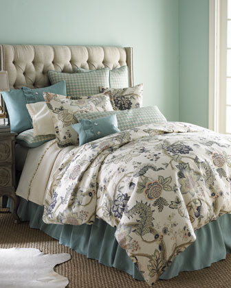 Traditions Leyta Bed Linens King Floral Duvet Cover, 105 x 90 traditional-duvet-covers