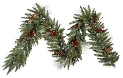 9 Foot Regal Pine Garland modern-outdoor-holiday-decorations