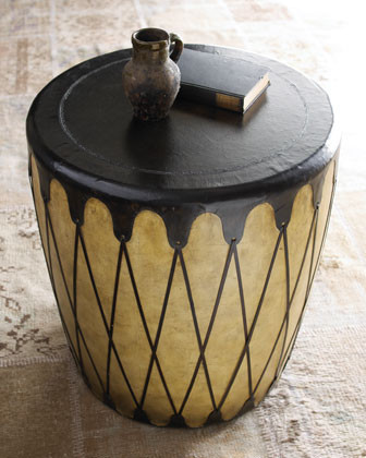 Naima Drum Table traditional-side-tables-and-end-tables