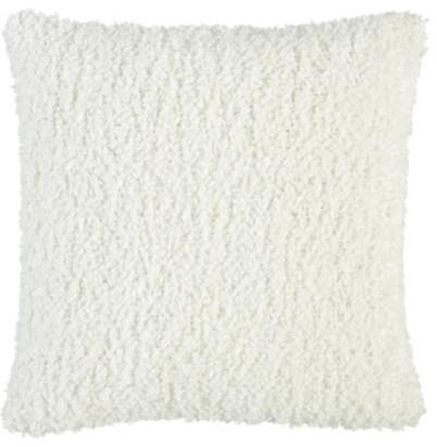"Aubree Boucle White 18"" Pillow contemporary-decorative-pillows"