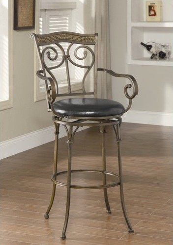 Hickory Creek Barstool in Black modern-bar-stools-and-counter-stools