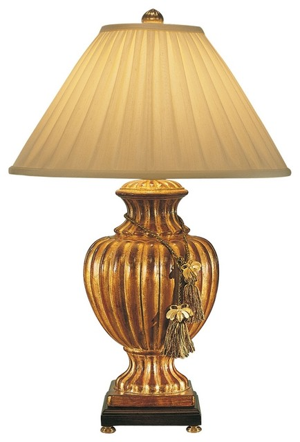 Wildwood Florentine Fluted Urn Gold Table Lamp
