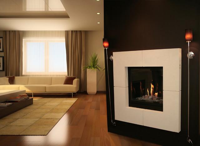 Quadra Stone Mantel Modern Fireplace Accessories Toronto By Stonetoyou Engineered