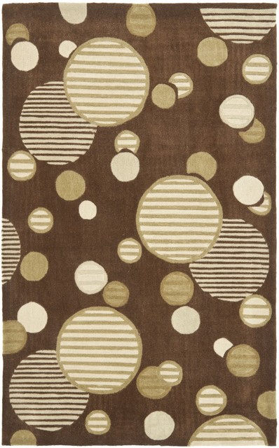 Safavieh Modern Art MDA619B Brown - Multi Area Rug contemporary-carpet-tiles