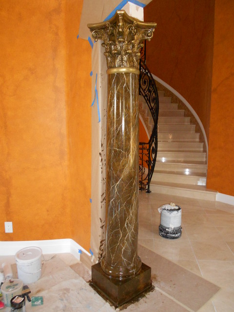 Faux Marble Columns Amp Fireplaces
