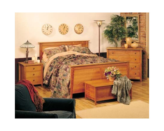 PRAIRIE BED - This bedroom collection rivals the simple, timeless, elegant qualities of authentic shaker furnishings. Gentle tapered legs and feet, smooth surfaces, and solid hardwood construction make a great fit for any home.