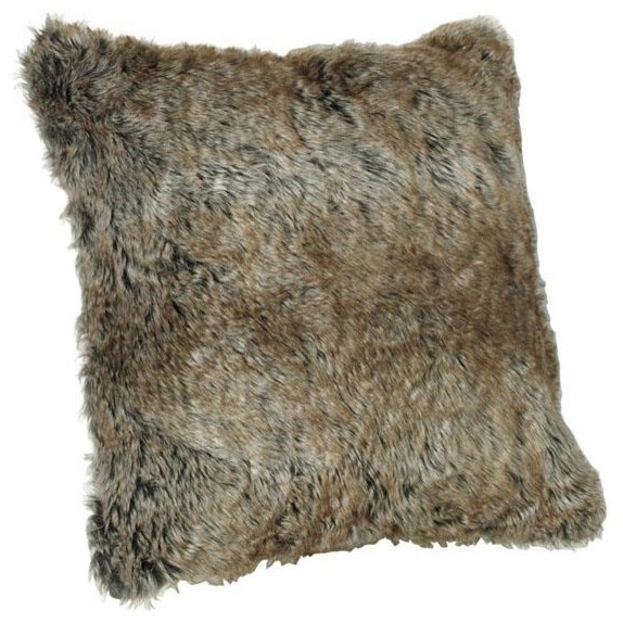 Brown Fur Throw Pillows : Faux Fur Pillow, Arctic Brown - Contemporary - Decorative Pillows - by Home Decorators Collection