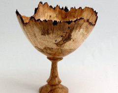 Sugar Maple Burl Wood Turned Goblet eclectic tabletop