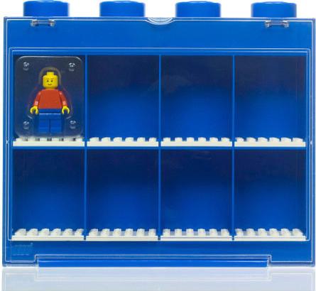 LEGO Small MiniFigure Display Case, Blue - Modern - Kids Wall Decor - by FAO Schwarz