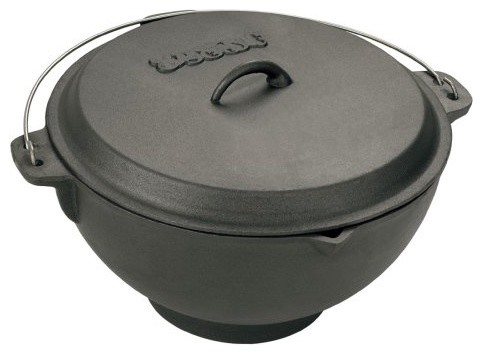 Bayou Classics Cast Iron Jambalaya Pot and Deep Fryer - 2.75 gal. contemporary cookware and bakeware