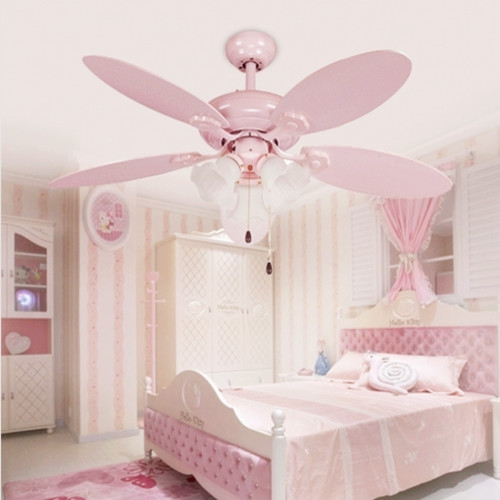 Pink Girls Ceiling Fan Lights European Style - Modern - Ceiling Fans ...