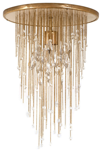 Vintage Brass and Glass Ceiling Light contemporary-ceiling-lighting