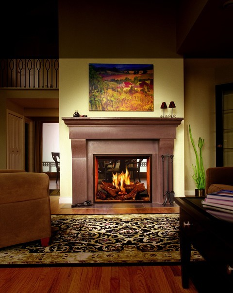 Town amp Country 36 See Thru Gas Fireplace Traditional