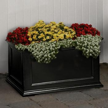 Fairfield Sub Irrigated Patio Planter in Black - 36 Inch contemporary outdoor planters